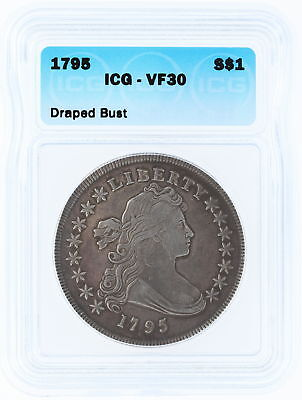 1795 ICG VF30 S$1 Draped Bust Dollar