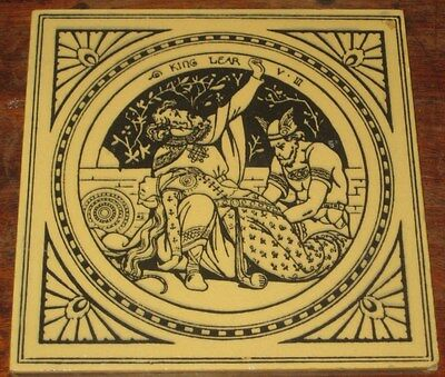 Victorian Minton Moyr Smith Shakespeare King Lear Tile