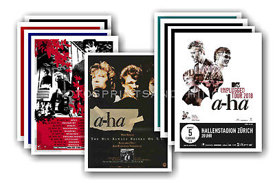 A-Ha  - 10 promotional posters - collectable postcard set # 2