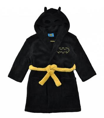 Batman Boys Black Fleece Robe Size 2T 3T 4T 5T 6 8 10 12