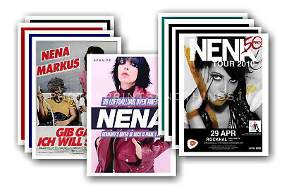 NENA  - 10 promotional posters - collectable postcard set # 1