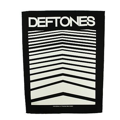 XLG Deftones Abstract Lines Back Patch Band Alternative Metal Sew On Applique