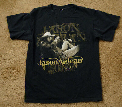JASON ALDEAN 2009 tour cities short sleeve black t shirt
