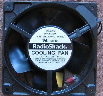 """NEW in the Box Radio Shack 4"""" Brushless Cooling Fan 273-0241c"""