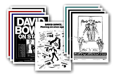 DAVID BOWIE  - 10 promotional posters - collectable postcard set # 13