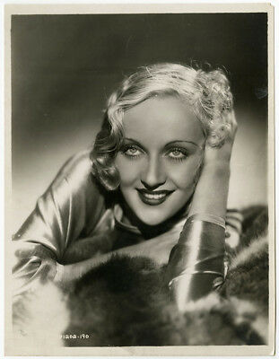 Incredible Carole Lombard Vintage 30s Art Deco Glamour Portrait Photograph Orig.