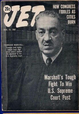 8/24/1967 Jet Magazine THURGOOD MARSHALL SUPREME CT CONGRESS FIDDLES CITY BURNS
