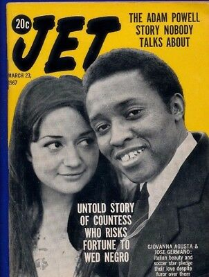 3/23/1967 Jet Magazine GIOVANNA AGUSTA risks fortune JOSE GERMANO soccer star