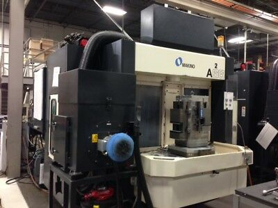 USED MAKINO A-66 CNC HORIZONTAL MILL 1999 Fourth Axis TSC 60 Tools 20000 RPM