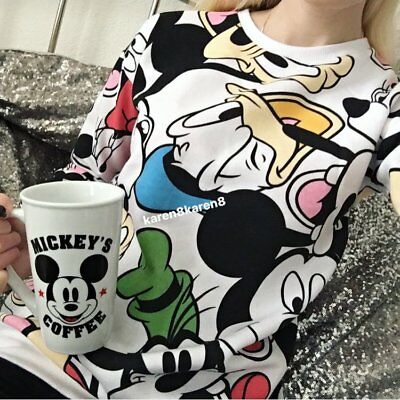 Primark Ladies DISNEY MICKEY MOUSE AND FRIENDS Jumper Sweat Top Womens Sweater