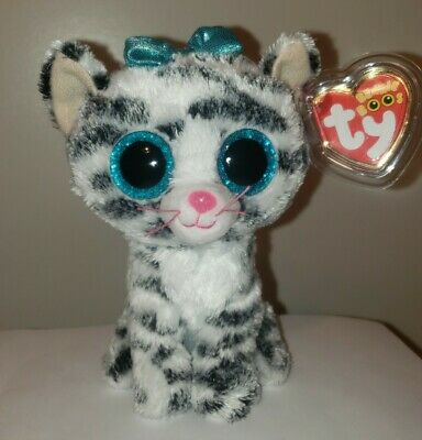 TY Beanie Boos ~ QUINN the Cat 6 Inch (Clare's Exclusive) NEW MWMT