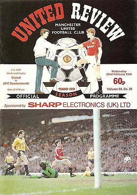 Manchester United v Bournemouth - FA Cup - 1988/89