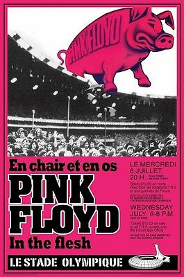 PINK FLOYD ~ STADE OLYMPIQUE CONCERT 24x36 MUSIC POSTER Rock Roger Waters