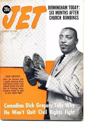3/19/1964 Jet Magazine DICK GREGORY civil rights fight BIRMINGHAM 6 months later