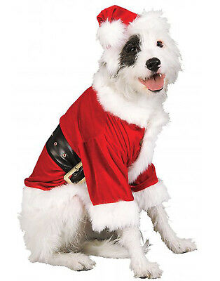 Pet Costume, Santa Paws, Dog/Cat Red Santa Claus Outfit