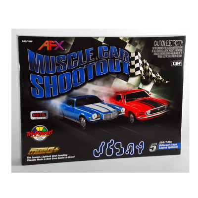 AFX – 1/64 Scale – Muscle Car Shoot Out Slot Car Set