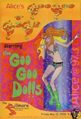 GOO GOO DOLLS FILLMORE POSTER Original Bill Graham ALICE 97FM Amacker Bullwinkle