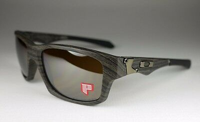 e0a9ac9e65 OAKLEY woodgrain tungsten iridium POLARIZED JUPITER SQUARED sunglasses! NEW!