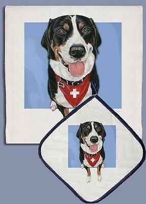 Dish Towel & Pot Holder - Greater Swiss Mountain Dog DP705