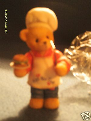 Cherished Teddies DENNIS  You put the spice in my life  CHEF with HAMBURGER