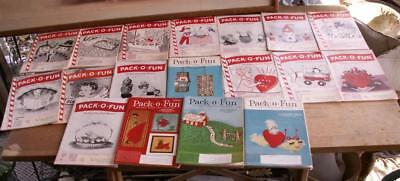 PACK O FUN scrap craft magazine lot of 18 from 1960's with free U.S.A. shipping