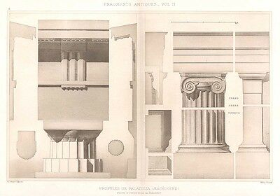 18 ~ MACDEDONIA PALACE Greece IONIC COLUMNS ~ 1905 Greek Architecture Art Print