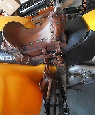 Antique / Vintage Childs Pony Saddle Great for Country Western Decore