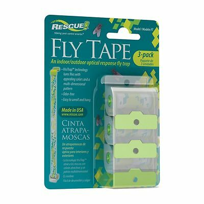 Rescue Fly Tape 3 / Pack Indoor outdoor fly strip fly trap free shipping