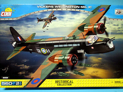 COBI 5531 RAF Bomber WWII Vickers Wellington Mk.IC 560 Bausteine/2 Figuren TOP !