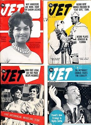 LOT (10) Jet Magazines 1960s no mailing labels  all different lot 4