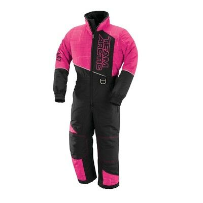 Arctic Cat Youth Team Arctic One-Piece Snowmobile Suit - Pink & Black - 5260-40_