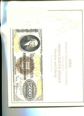 Ana Chicago Illinois  Souvenir Currency Bep Card