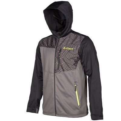 Klim's Transition Stretchy Polyester Soft Shell Hoodie - Black 3785-000-1_0-000