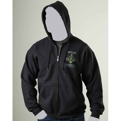 Arctic Cat Men's Wildcat Garage Full Zip Hoodie Sweatshirt Black ATV UTV 5258-51