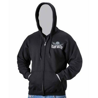 Arctic Cat Men's Team Arctic Skull Full Zip Hoodie - Black - 5259-58_