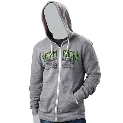 Arctic Cat Men's Team Racing Flag Full Zip Hoodie Sweatshirt - Gray - 5269-68_