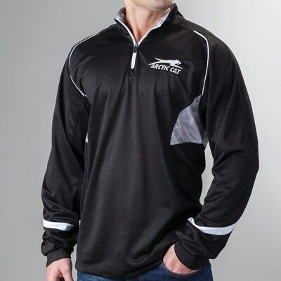Arctic Cat Men's Aircat Storm 1/4 Zip Performance Sweatshirt - Black - 5263-57_