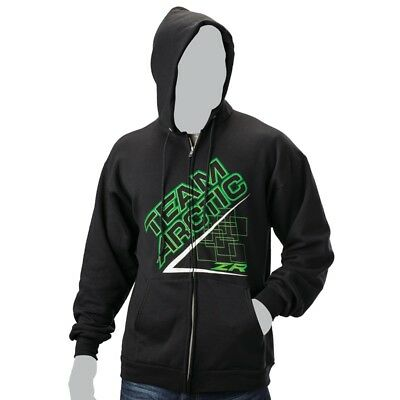 Arctic Cat Men's Team Arctic Race Hoodie Sweatshirt Pullover – Black - 5259-96_