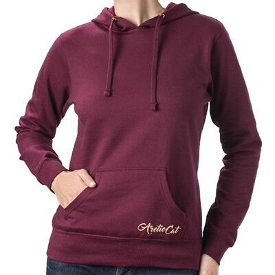 Arctic Cat Women's Luna Script Relaxed Fit Sweatshirt Hoodie Red Maroon 5283-49_