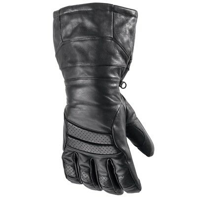 Arctic Cat Adult Touring Hi-Cuff Insulated Leather Gloves - Black - 5262-26_