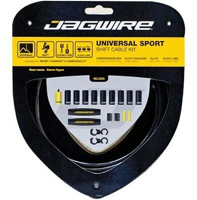 Jagwire Universal Sport Mountain Bike MTB / Road Bicycle Gear Cable Kit Black