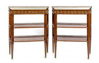 Museum-Quality 18th C. French Dessert Tables  CLAUDE-CHARLES SAUNIER  c. 1780