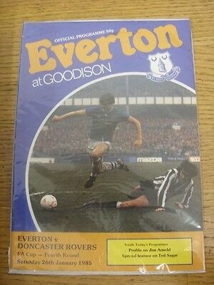 26/01/1985 Everton v Doncaster Rovers [FA Cup] (Faint Fold).  Thanks for viewing