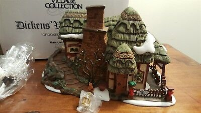 Dept 56 Dickens Village Series 1997 CROOKED FENCE COTTAGE 58304 - Retired 2000