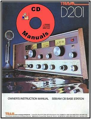 TRAM D201 CD OWNERS MANUAL + Schematic CB Radio Book D-201