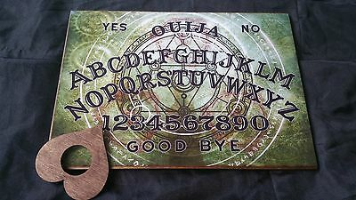 Wooden Ouija Board game Mystic Spirit & Planchette ghost hunt Instructions spook