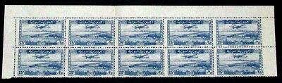 Syria Scott C129 Margin Strip10 1946 Mnh Vf