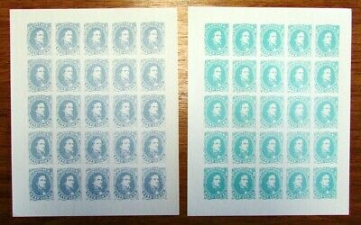 United States Confederate Stamps Facimiles Sheet Of 25 (12 Different) 1940's Mnh