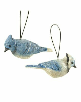 Blossom Bucket Set of 2 Blue Jays with Hangers