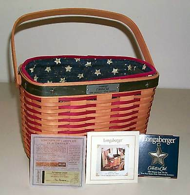 Longaberger Whistle Stop Basket Combo Collector Club New In Box Hand Made USA